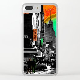 SynchroniCity - Meaningful Psychedelic Collage of NYC Clear iPhone Case