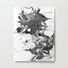 Marble Suminagashi 3 watercolor pattern art pisces water wave ocean minimal design Metal Print