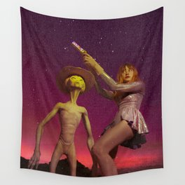 Race to the Lavender Nebula Wall Tapestry