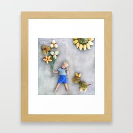 Flowers for You Framed Art Print