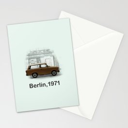 A Trabbi in Berlin Stationery Cards