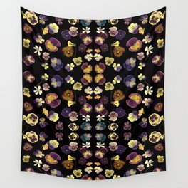Dark Pansies Wall Tapestry