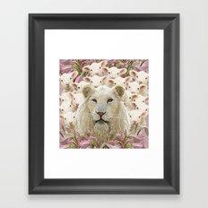 Lambs led by a lion Framed Art Print