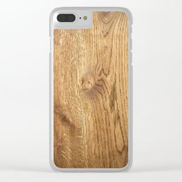 Wood Wood Clear iPhone Case