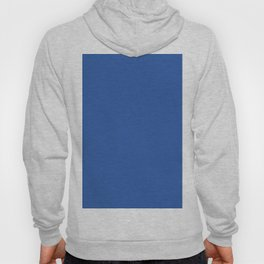 Sapphire Blue Solid Color Hoody