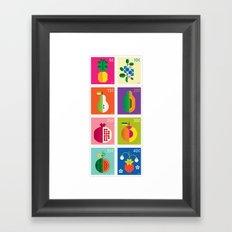 Fruit Stamps Framed Art Print