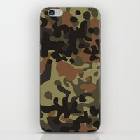 david fleck iPhone & iPod Skins featuring Fleck Tarn Camoflauge  by Derek Boman