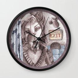 Cat metamorphosed Wall Clock