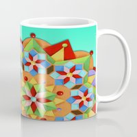 manchester Mugs featuring Manchester Mandala by Patricia Shea Designs