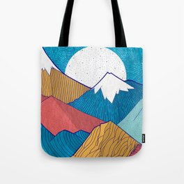 The Crosshatch Sky Tote Bag