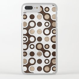 Geometric Pattern -  Wood and Golden Texture Clear iPhone Case