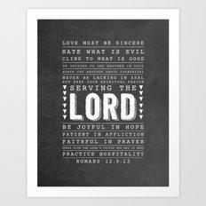 Romans 12:9-13 Art Print