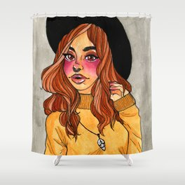 Fall Witch Shower Curtain