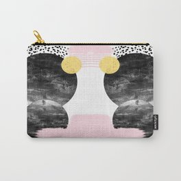 Roussel - pink pastel girly hipster trendy art decor dorm college brooklyn abstract minimal painting Carry-All Pouch