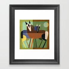 HORSE HUG Framed Art Print