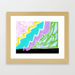 Into the doodle Framed Art Print