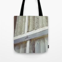 lace Tote Bags featuring Lace by Meegan Dobson