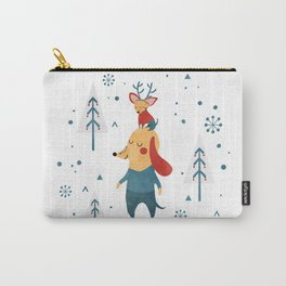 Merry Christmas card Carry-All Pouch