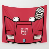 transformers Wall Tapestries featuring Transformers - Sideswipe by CaptainLaserBeam