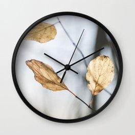 November leaves Wall Clock