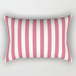 Large Nantucket Red and White Cabana Tent Stripes Rectangular Pillow