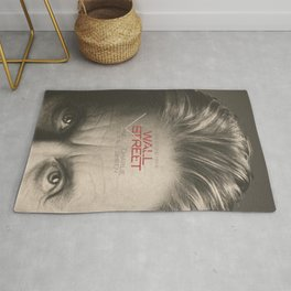 Wall Street, alternative movie poster, Gordon Gekko, Oliver Stone, film, minimal fine art playbill Rug