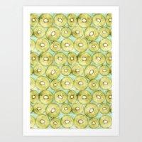 kiwi Art Prints featuring kiwi by kociara