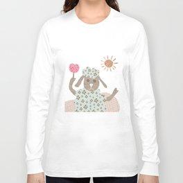 sheep collage Long Sleeve T-shirt