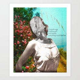 Prediction - Collage Art Print