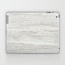 White Gray Marble Laptop & iPad Skin