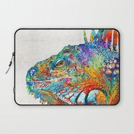 Colorful Iguana Art - One Cool Dude - Sharon Cummings Laptop Sleeve