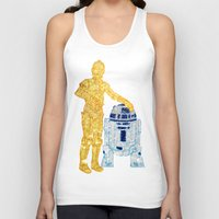 glitter Tank Tops featuring Glitter Droids by foreverwars