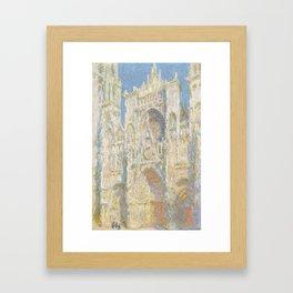 Rouen Cathedral, West Façade, Sunlight Framed Art Print
