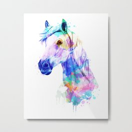 Horse Watercolor, Horse Print, Watercolor Print, Watercolor Animal, Horse Painting, Horse Gift Print Metal Print