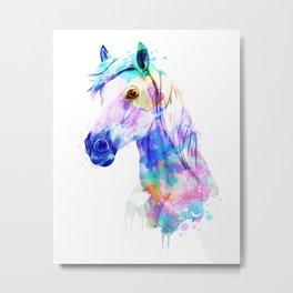 Horse Watercolor, Horse Print, Watercolor Print, Watercolor Animal, Horse Painting, Horse Gift Print Metal Print