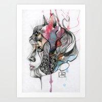 Animal Spirits: Cat Art Print