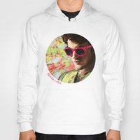 darren criss Hoodies featuring Colourful Darren Criss by Ines92
