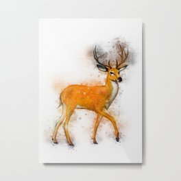 Deer Art Metal Print