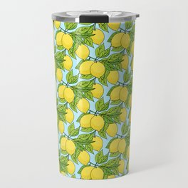Doodle Lemons - Summer Pattern Travel Mug