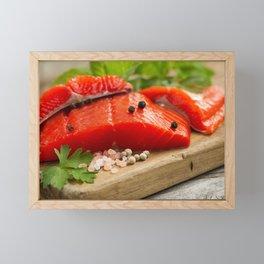 Fresh Copper River Salmon fillets Framed Mini Art Print