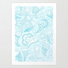 Ghostly Paisley Art Print