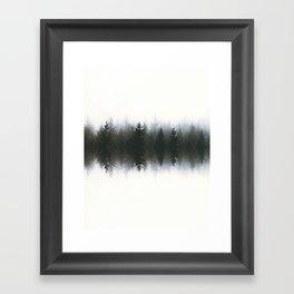 Sound waves -woods Framed Art Print