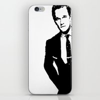 neil gaiman iPhone & iPod Skins featuring Neil Patrick Harris (NPH) by Black And White Store