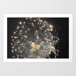 Marina Fireworks 2018 view 4 Art Print