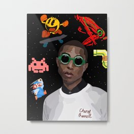 Pharrell Metal Print