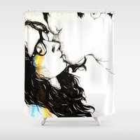 lovers Shower Curtains featuring Lovers by Ellie Claire