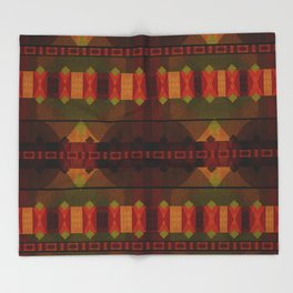 """Full Colors Tribal Pattern"" Throw Blanket"