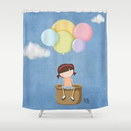 up on high Shower Curtain