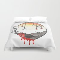 shakespeare Duvet Covers featuring Shakespeare Sonnet XXXI by Gardensounds