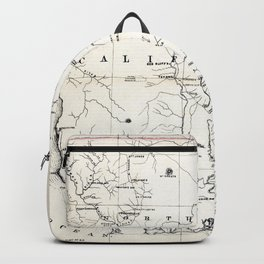 Northern California Map 1866 Backpack